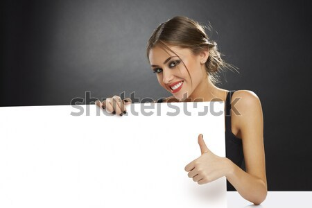 Thumb up and blank billboard Stock photo © photosebia