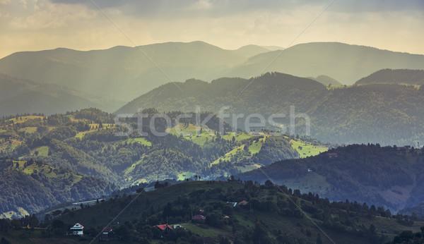 Morning rural landscape, Transylvania, Romania Stock photo © photosebia