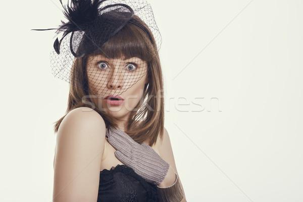 Startled woman Stock photo © photosebia