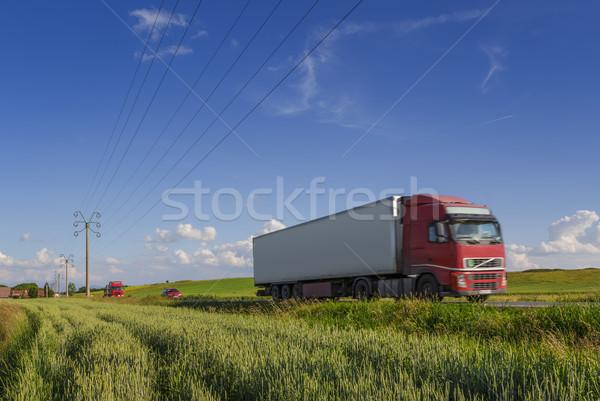 Camion route été jour internationaux fret Photo stock © photosebia
