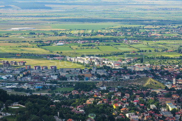 Roemenië breed luchtfoto stad landschap reizen Stockfoto © photosebia