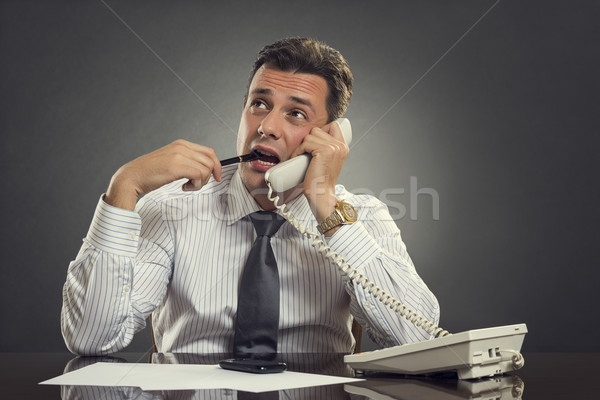 Thoughtful businessman on phone Stock photo © photosebia