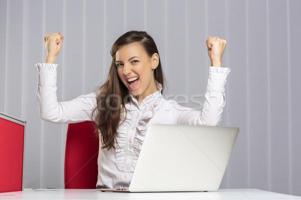 Excited female executive Stock photo © photosebia