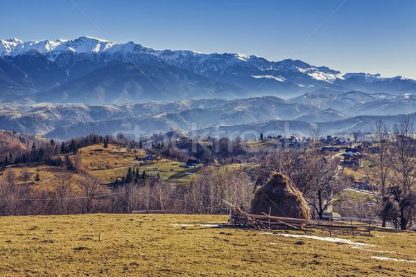 Romanian alpine rural scenery Stock photo © photosebia