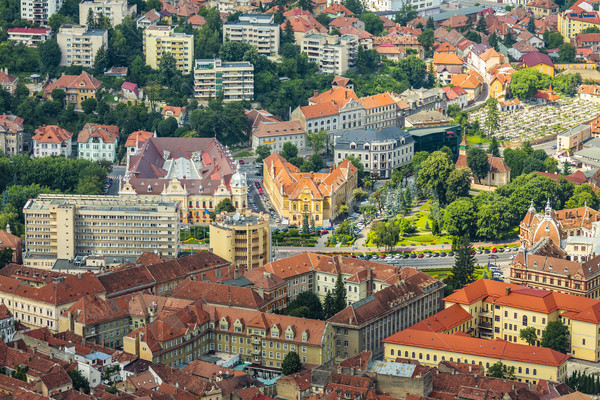 Румыния старые исторический центр город Сток-фото © photosebia
