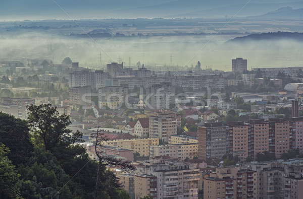 Misty morning cityscape Stock photo © photosebia