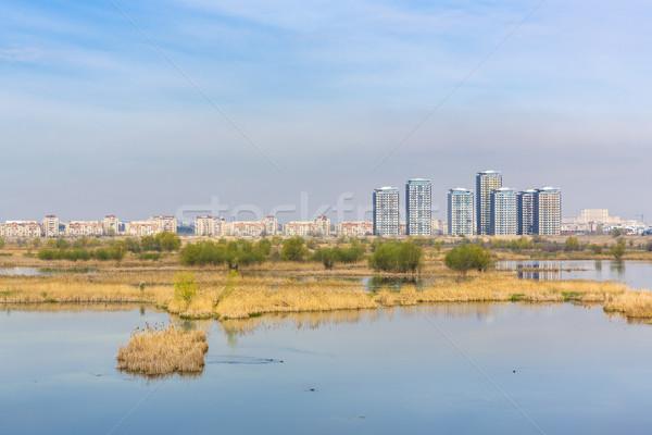 Cityscape wodny ekosystem dzień widoku starych Zdjęcia stock © photosebia