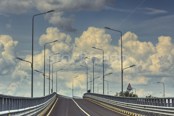 Vide interstate route autoroute lampe nuages Photo stock © photosebia