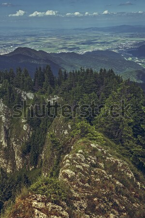 Panoramic mountain scenery Stock photo © photosebia
