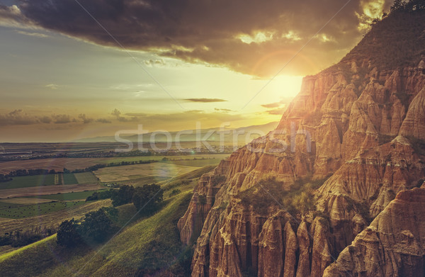 Scenic setting sun landscape Stock photo © photosebia