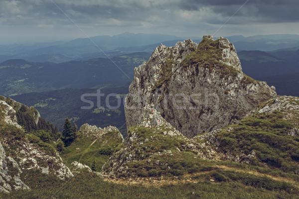 горные походов вверх кобыла Румыния лет Сток-фото © photosebia