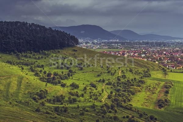 ルーマニア語 絵のように美しい 春 風景 広い ストックフォト © photosebia