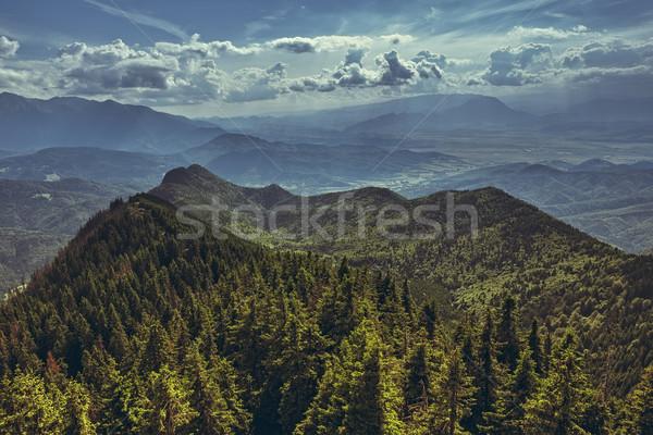 Scenic panoramic mountain landscape Stock photo © photosebia