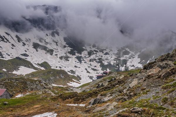 мрачный горные пейзаж озеро курорта гор Сток-фото © photosebia