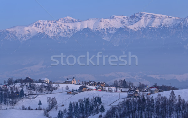 Winter evening over the mountains Stock photo © photosebia