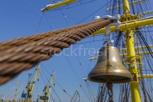 Tall ship alarm bell Stock photo © photosebia