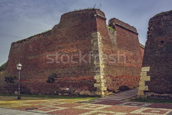 укрепление стен руин кирпичных средневековых Сток-фото © photosebia