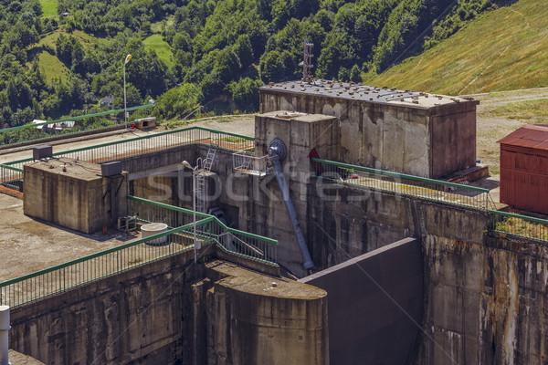 ворот тесные мнение гидравлический механизм промышленных Сток-фото © photosebia