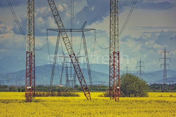 High-voltage electric energy distribution network Stock photo © photosebia