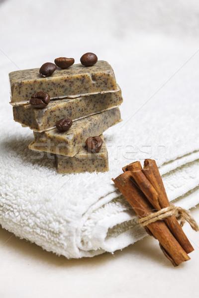 Handmade flavored soap bars Stock photo © photosebia
