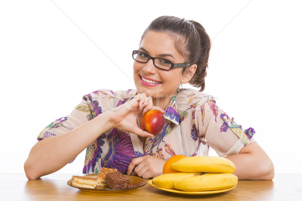 Woman, fruits and cakes. Stock photo © photosebia