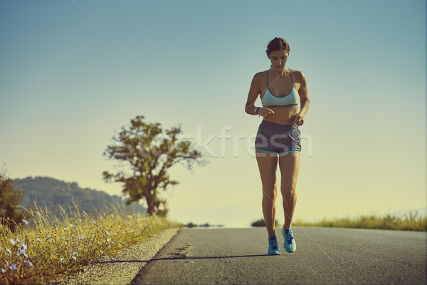 Running woman Stock photo © photosebia