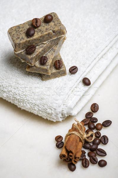 ручной работы мыло баров кофе корицей Сток-фото © photosebia