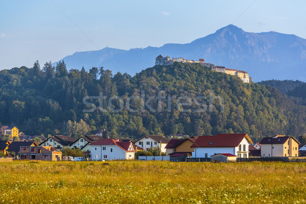 Rasnov fortress and Bucegi mountains, Romania Stock photo © photosebia