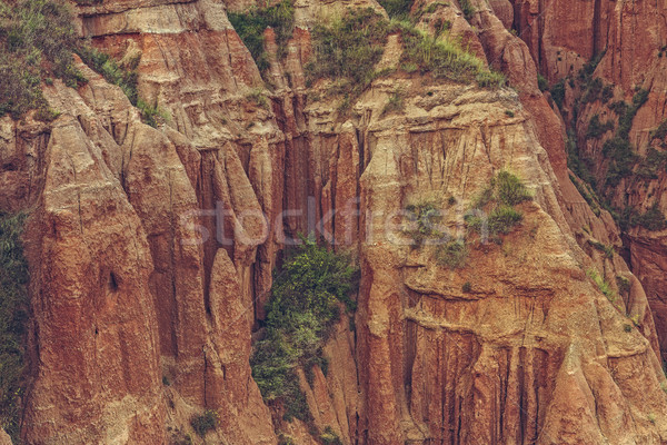 Unique erosion sandstone cliff Stock photo © photosebia
