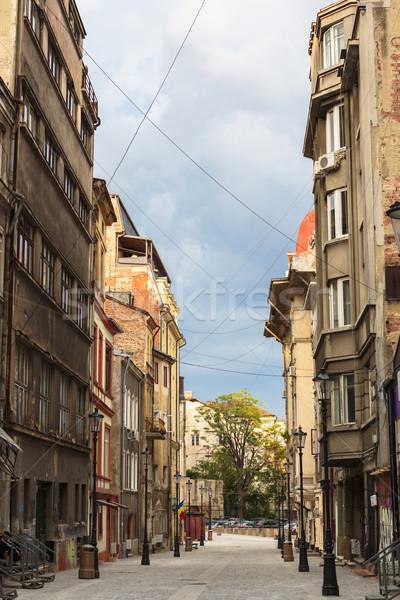 Widoku starych historyczny centrum Cityscape architektoniczny Zdjęcia stock © photosebia