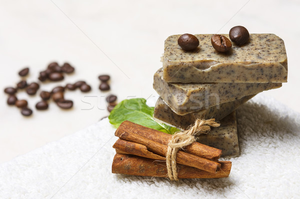 Handmade flavored soap bars Stock photo © photosebia