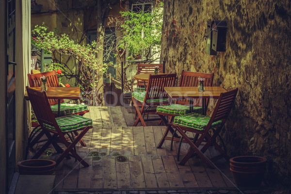 Homey outdoor cafe terrace Stock photo © photosebia