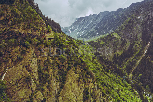 山 風景 有名な 道路 山 ストックフォト © photosebia
