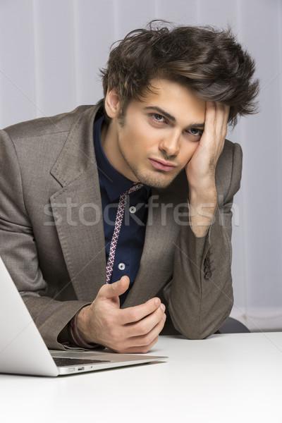Decepcionado empresario jóvenes actitud Foto stock © photosebia