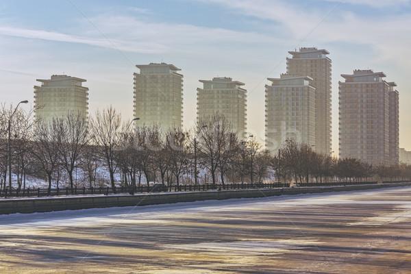 Modern high rise block of flats Stock photo © photosebia