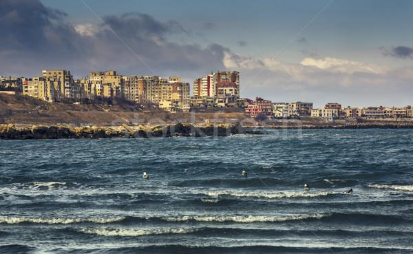 黒 海 海岸 海景 住宅の 地区 ストックフォト © photosebia
