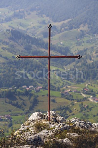Photo stock: Foi · au-dessus · tous · rouge · fer · croix
