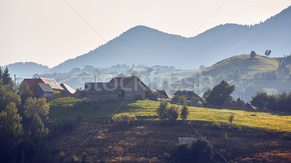 Morning rural landscape, Pestera village, Romania Stock photo © photosebia