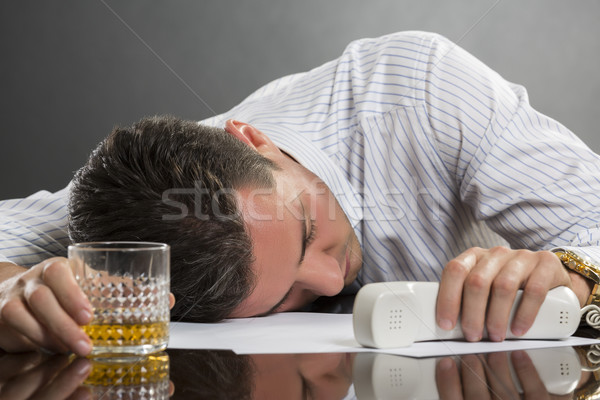 Sleeping man with drinking problems Stock photo © photosebia