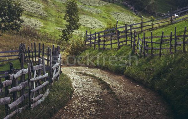 Transylvanian dirt road Stock photo © photosebia