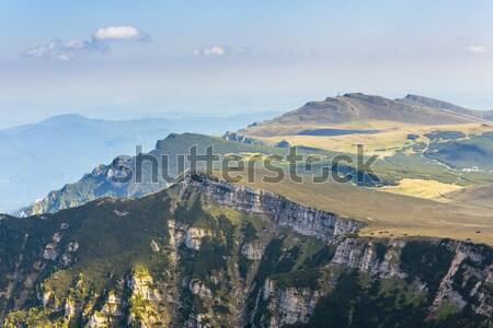 Fennsík gyönyörű tájkép napos idő hegyek Romania Stock fotó © photosebia