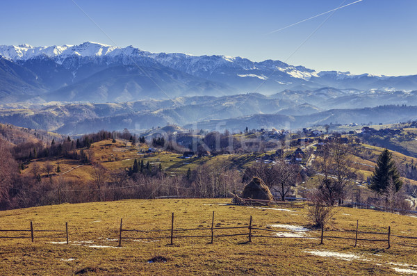 Romanian alpine rural scenery Stock photo © photosebia