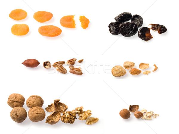 сушат плодов коллекция все белый Сток-фото © photosil