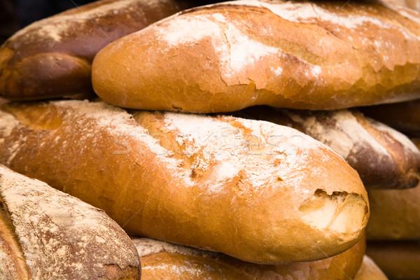 Padaria grupo pão raso foco Foto stock © photosil