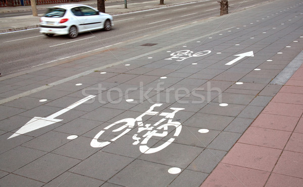безопасной Велоспорт среде автомобилей дороги спорт Сток-фото © photosil