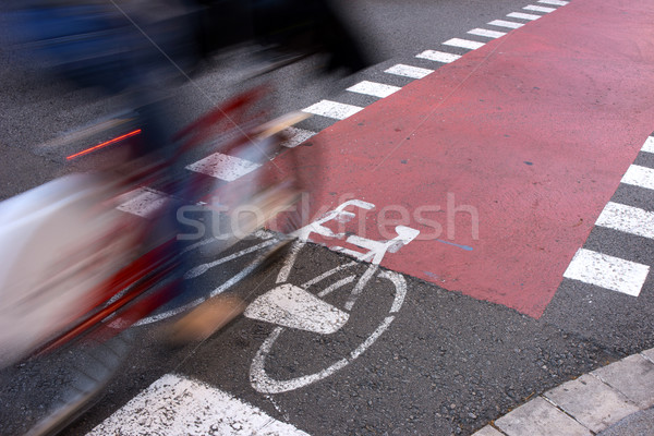 Conmuter on Urban Facilities for Sustainable Transportation Stock photo © photosil