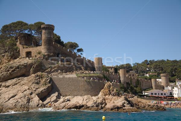 Castelo água praia paisagem verão Foto stock © photosil
