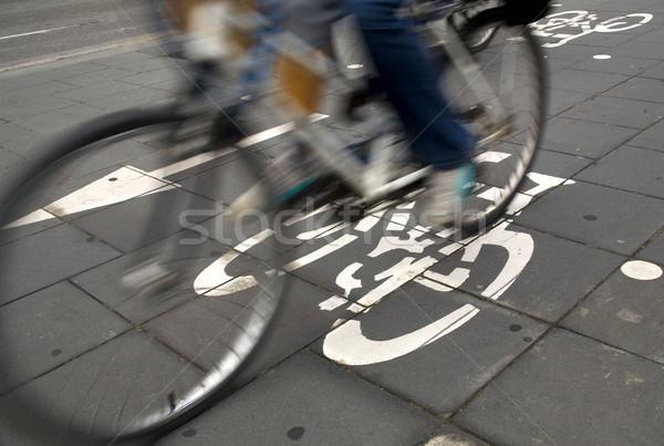 Cycle lane Stock photo © photosil