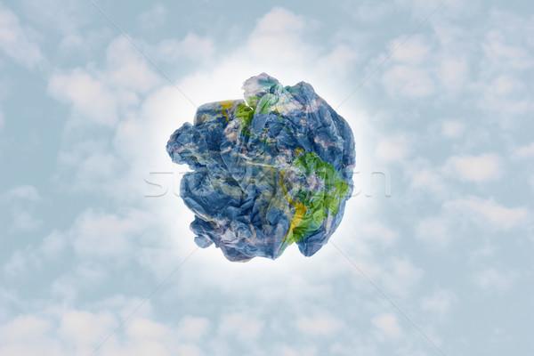 мусора земле планеты бумаги мусор облачный Сток-фото © photosil