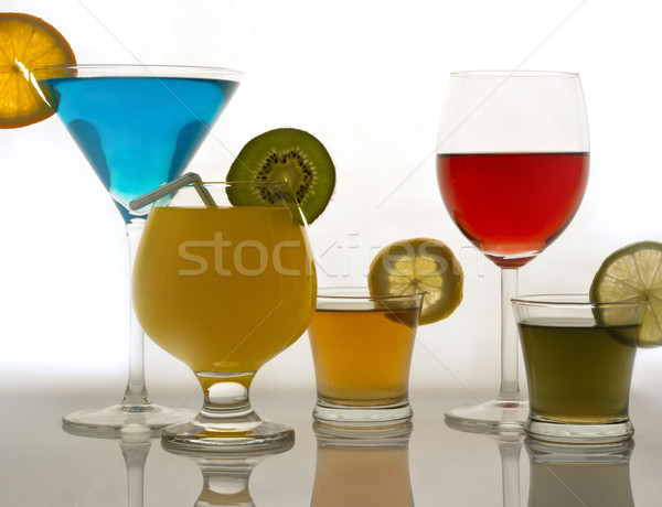 Bebidas vinho branco reflexões festa fruto Foto stock © photosil